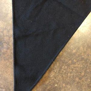 Jil Sander Accessories - Jil Sander Black 4 ply boiled cashmere felt scarf